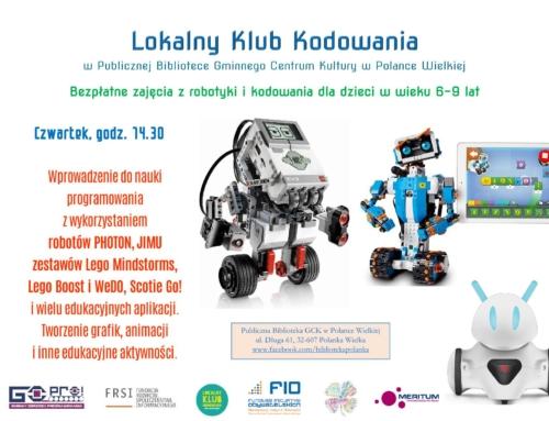 Zapisy na zajęcia z robotyki i kodowania