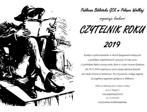 Konkurs Czytelnik Roku 2019