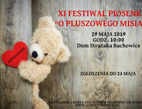 """XI Dziecięcy Festiwal Piosenki """"O Pluszowego Misia"""""""