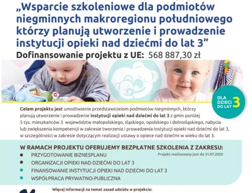 Projekt dot. organizacji opieki nad dziećmi do 3 lat