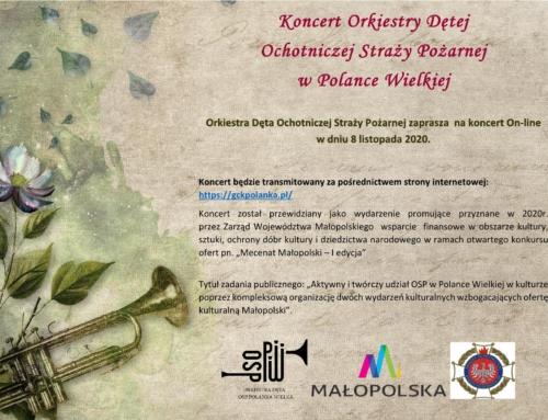 Koncert on-line Orkiestry Dętej OSP w Polance Wielkiej