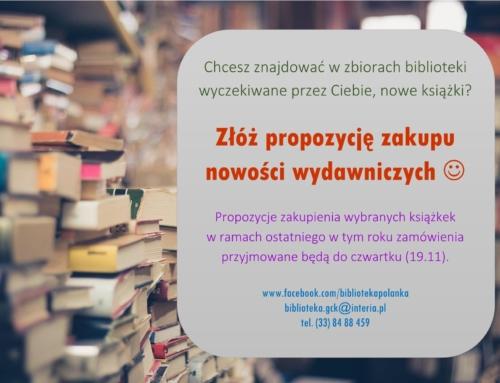 Zaproponuj zakup nowych książek